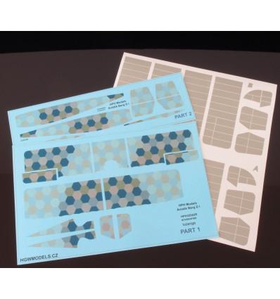 Aviatik Berg D.I 1/32 obtisk LOZENGE + maska žeber